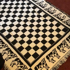 Other - Cow Patterned Throw